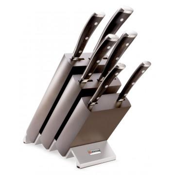 Ceppo coltelli con 6 pz. ikon 9866